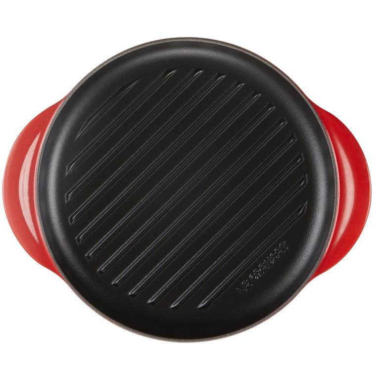Cerise Red Le Creuset Cast Iron 25cm Round Grill