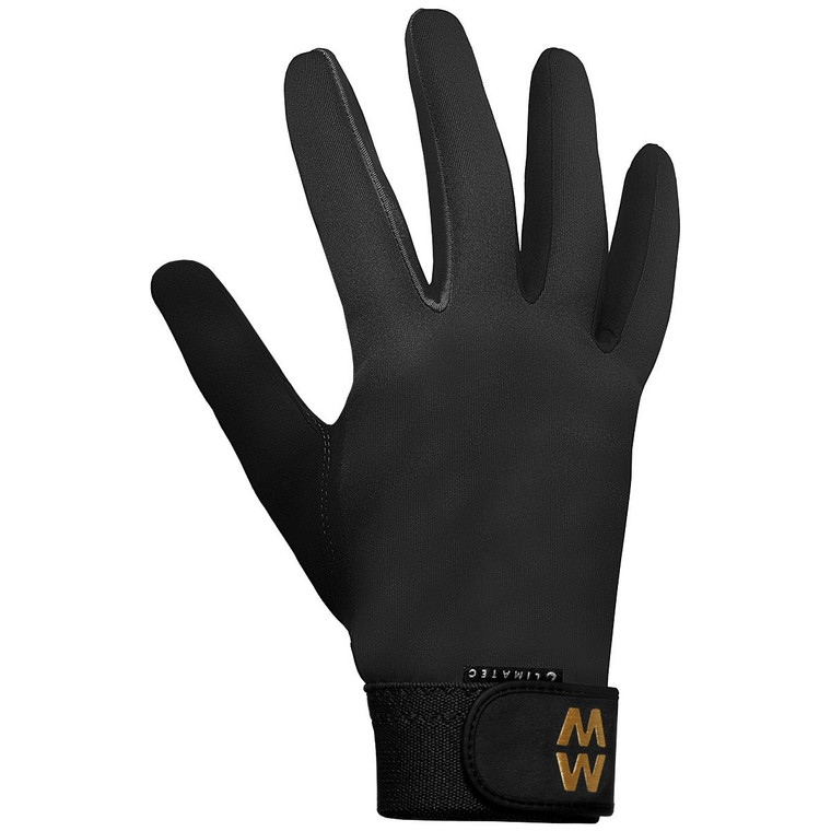 Black MacWet Climatec Long Cuff Sports Gloves
