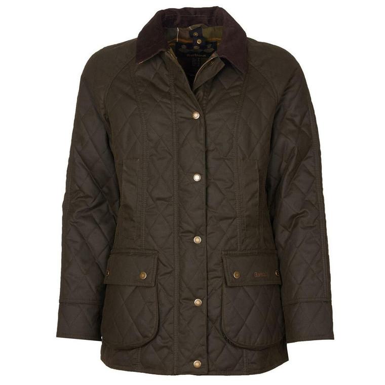 Olive Green Ladies Barbour Wardley Wax Jacket