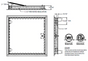 """24"""" x 24"""" Fire Rated Recessed Access Door for Drywall Ceiling"""