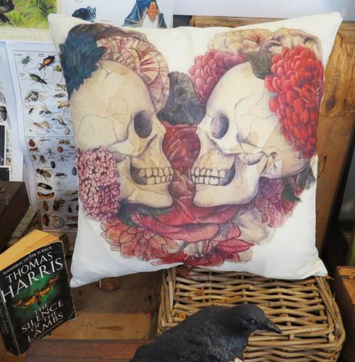 cushion cover skull print