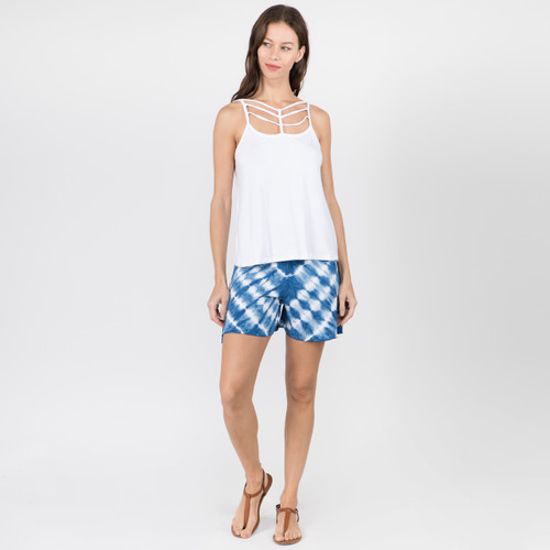 Cage Front Flowy Tank Top