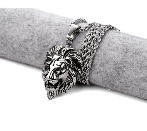 Rasta Lion Pendant with Chain