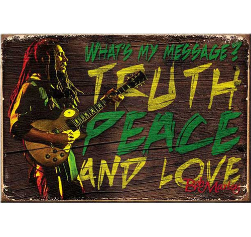 Bob Marley What's My Message Magnet
