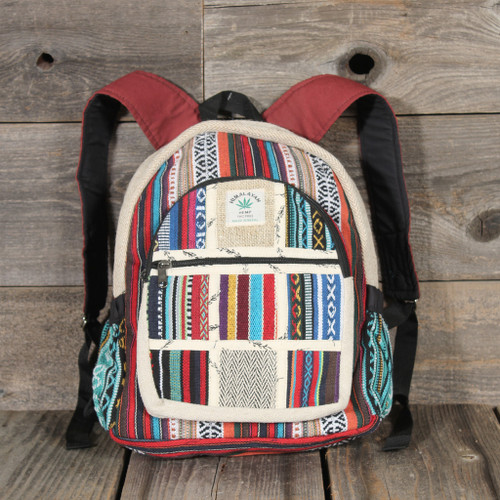 Hemp Patchwork Small Backpack