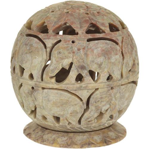 Elephant Soapstone Burner/Candle Holder 3.5 inches