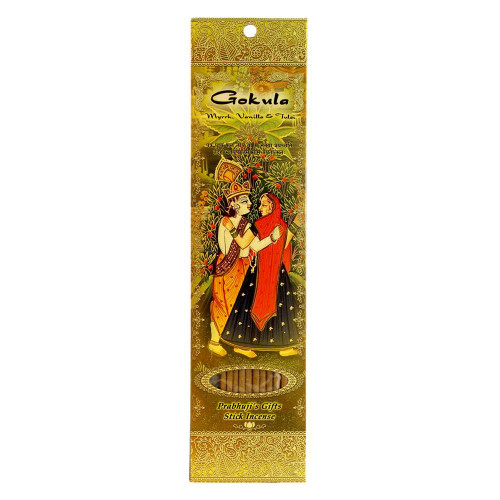 Incense Sticks Gokula - Myrrh, Vanilla, and Tulsi