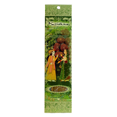 Incense Sticks Krishna - Vetiver, Cedarwood, and Halamadi