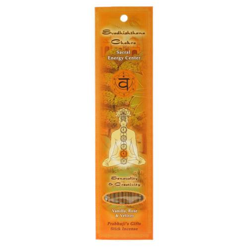 Incense Sticks Sacral Chakra Svadhishtana - Sensuality and Creativity