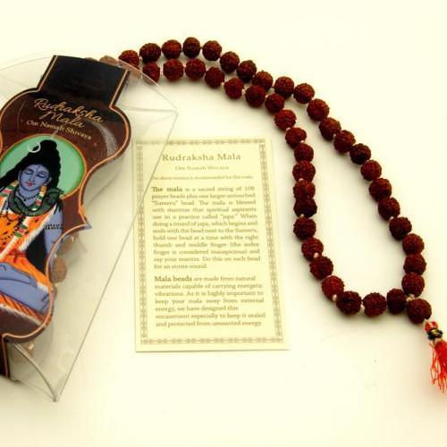 Rudraksha  Prayer Mala Beads