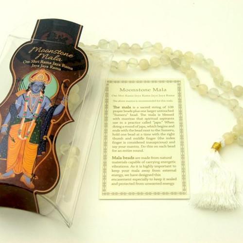 Moon Stone  Prayer Mala Beads