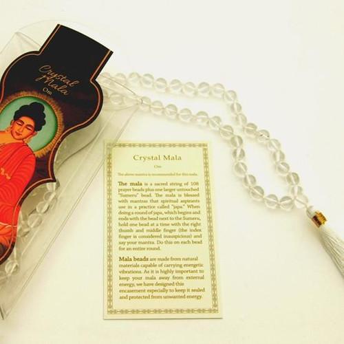 Clear Crystal Quartz  Prayer Mala Beads
