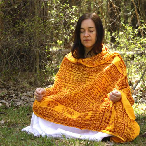 Radha Krishna Meditation Yoga Prayer Shawl