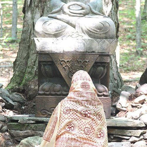 Peach Mantra Om  Meditation Yoga Prayer Shawl
