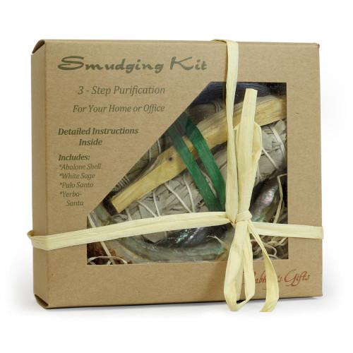 Purification Kit Palo Santo Kit - Sage - Yerba Santa - Abalone shell