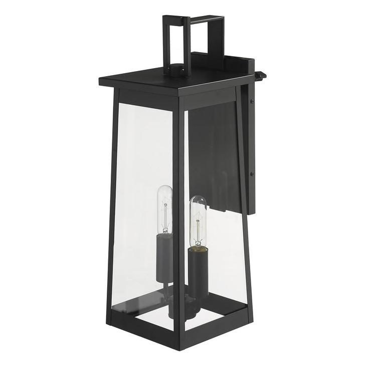 Alden 2-Light Matte Black Wall Light, Acclaim Lighting 1212BK 28121
