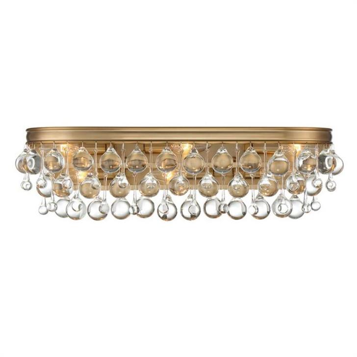 Calypso 6-Light Vibrant Gold Vanity Light, Crystorama 133-VG 2KRUQ