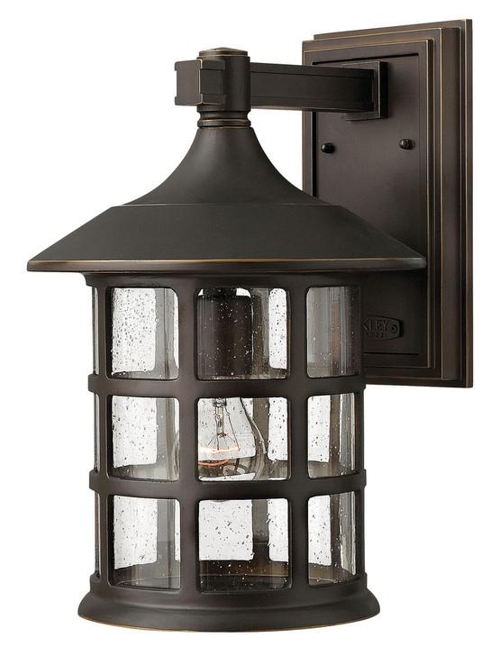 "Freeport Outdoor Wall Lantern, 1-Light, Oil Rubbed Bronze, Clear Seedy Glass, 15-1/4""H (1805OZ D384)"