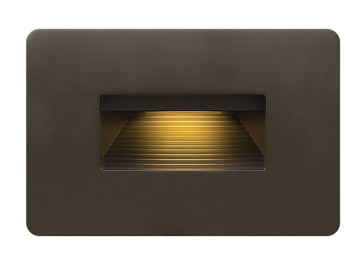 "Luna Step Light, 1-Light, 120v, LED, Bronze, 4-1/2""W (58508BZ N4AE)"