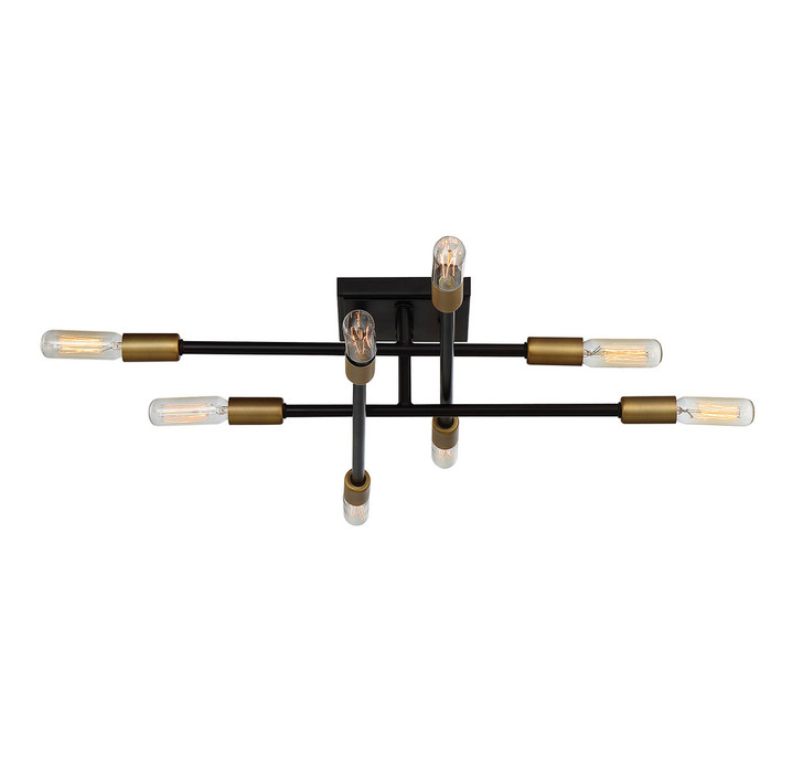 Lyrique 8-Light Semi-Flush, Savoy House 6-7003-8-77 1MW0G