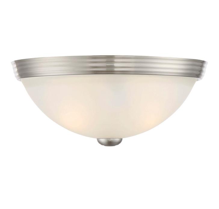 """11"""" Flush Mount White Glass, Savoy House 6-780-11-SN 1JTF5"""