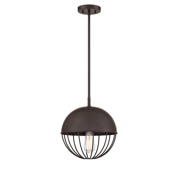 1-Light Oil Rubbed Bronze Exterior Pendant, Lights Reimagined (80409F6)