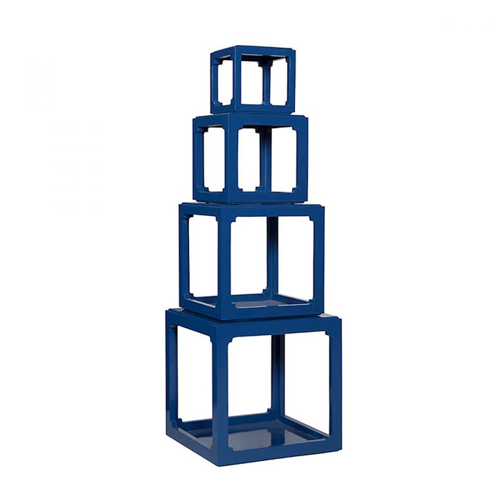 Cubes Etagere in Navy, Elk Home A24753004S-NV 704RLDW