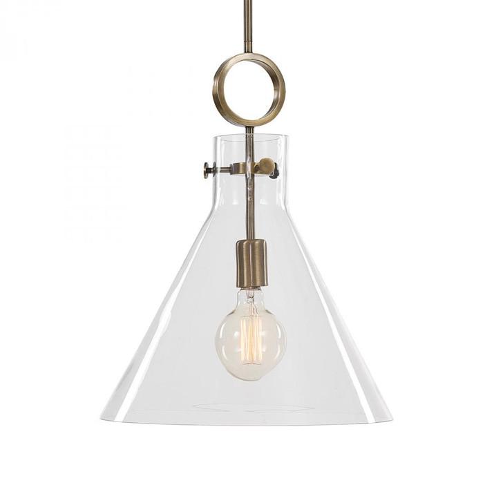 Uttermost Imbuto Funnel Glass 1 Light Pendant, Uttermost 21548 A6CPK