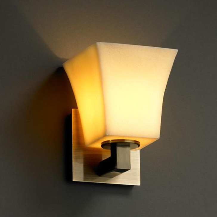 Modular 1-Light Wall Sconce, Justice Design Group CNDL-8921-15-AMBR-DBRZ NHR86