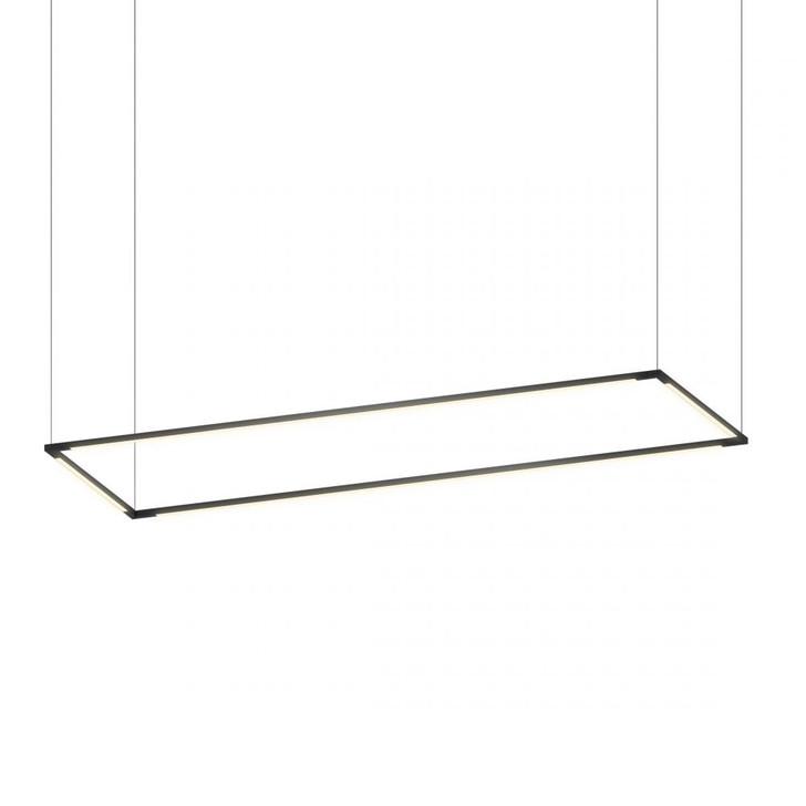"""Z-Bar Pendant Large Rectangle, Matte Black (16""""/48"""" light bars), Koncept Inc ZBP-48-R-SW-MTB-CNP 407UGLY"""
