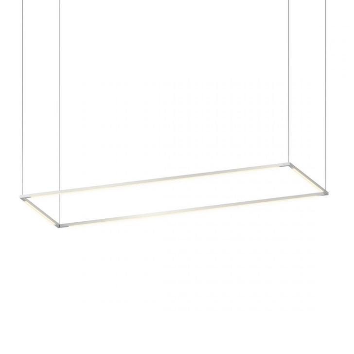 "Z-Bar Pendant Large Rectangle, Silver (16""/48"" light bars), Koncept Inc ZBP-48-R-SW-SIL-CNP 407UGLZ"