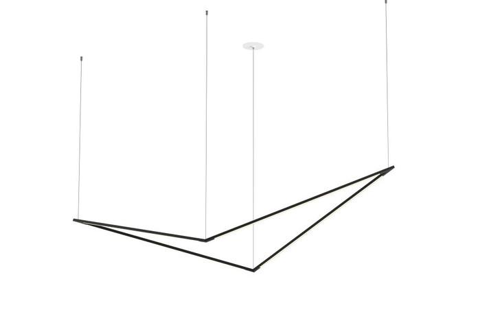 """Z-Bar Pendant, Large Bird, LED, Matte Black, 70.5""""W (ZBP-36-B-SW-MTB-CNP 407UGLM)"""