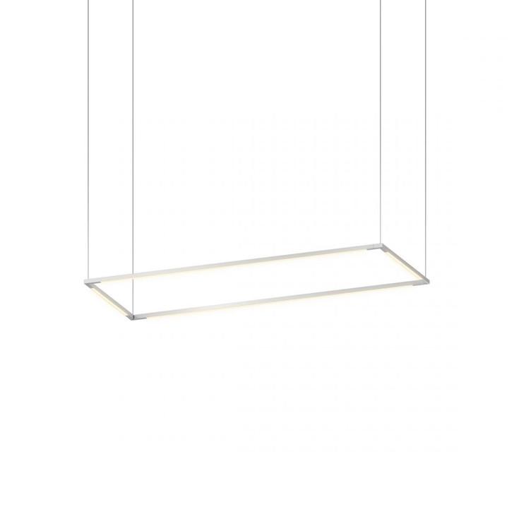 "Z-Bar Pendant Medium Rectangle, Silver (12""/36"" light bars), Koncept Inc ZBP-36-R-SW-SIL-CNP 407UGLX"