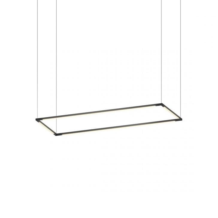 "Z-Bar Pendant Medium Rectangle, Matte Black (12""/36"" light bars), Koncept Inc ZBP-36-R-SW-MTB-CNP 407UGLW"