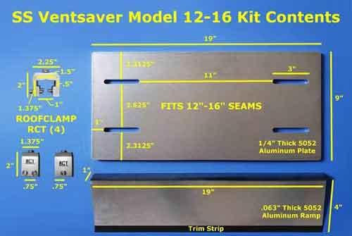 12-16 Standing Seam VentSaver Plate Contents