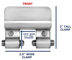 SnoBar Clamp Front View