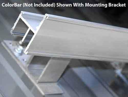 Tall Screw Down Bar Mounting Bracket with ColorBar