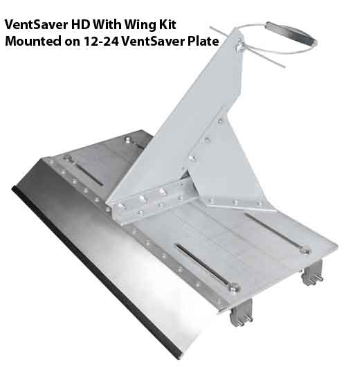 HD VentSaver Mounted On 12-24 Standing Seam Plate