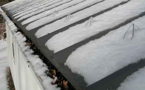 LeafBlox With Snow Guards Helps Snow Melt in the Gutter