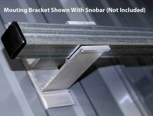 Screw Down Tall Mounting Bracket with SnoBar