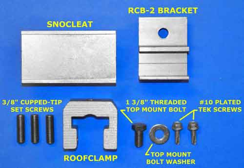 SnoCleat RCT Kit Components