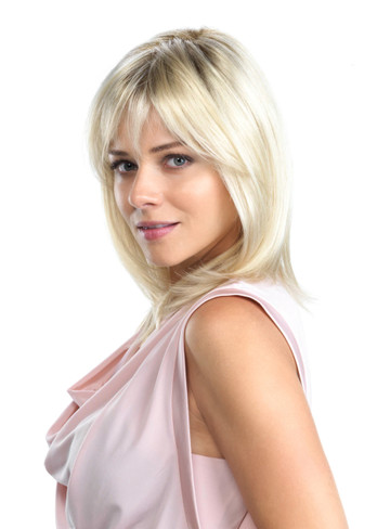 Hunter Rooted Colors Hand Tied Lace Front Monotop Synthetic Wig by Tony of Beverly