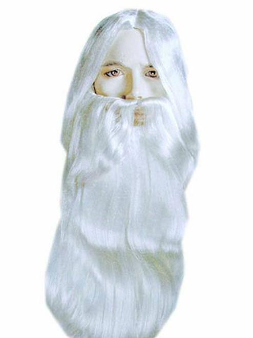 Rip Van Winkle Synthetic Costume Wig Beard Set by Lacey