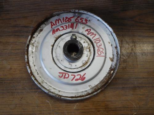 John Deere Auger Pulley 526 726 826 832 1032 PT# AM105653, AM33141, AM103651