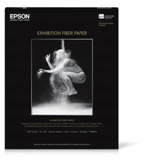 """Epson Exhibition Fiber Paper S045037 13"""" X 19' 25 SHEETS"""