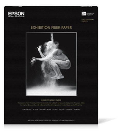 "Epson Exhibition Fiber Paper S045042 24"" X 30 25 SHEETS"