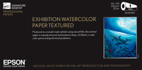 """Exhibition Watercolor Paper Textured 44"""" x 50' Roll"""