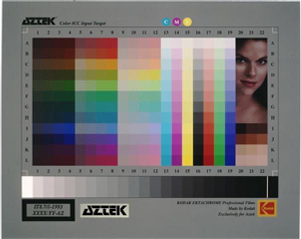Aztek IT8 Color ICC Input Target / 5 x 7 Endura Paper