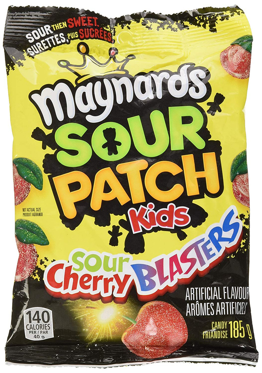 Maynards Sour Patch Kids Sour Cherry Blasters Gummy Candy 185g 12 Pack Imported From Canada Caffeine Cams Coffee Candy Company Inc