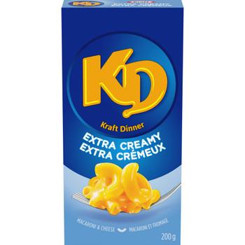 KD KRAFT DINNER Extra Creamy Mac & Cheese 200g/7.1 oz.,- {Canadian}
